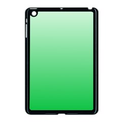 Pastel Green To Dark Pastel Green Gradient Apple iPad Mini Case (Black)