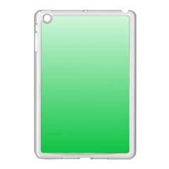 Pastel Green To Dark Pastel Green Gradient Apple Ipad Mini Case (white)