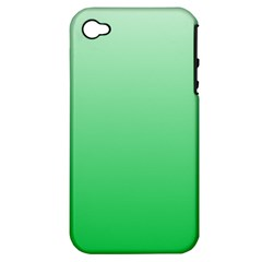 Pastel Green To Dark Pastel Green Gradient Apple iPhone 4/4S Hardshell Case (PC+Silicone)