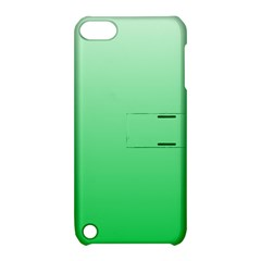 Pastel Green To Dark Pastel Green Gradient Apple Ipod Touch 5 Hardshell Case With Stand