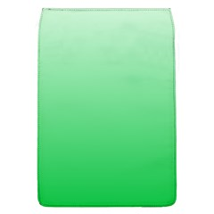 Pastel Green To Dark Pastel Green Gradient Removable Flap Cover (large)