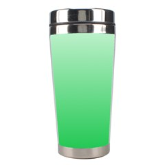 Pastel Green To Dark Pastel Green Gradient Stainless Steel Travel Tumbler
