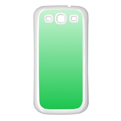 Pastel Green To Dark Pastel Green Gradient Samsung Galaxy S3 Back Case (White)