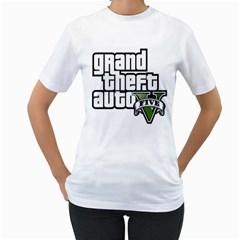GTA V Womens  T-shirt (White)