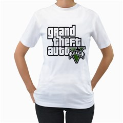 GTA V Womens  T-shirt (White)