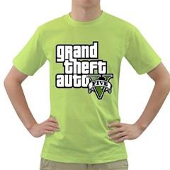 Gta V Mens  T Shirt (green)