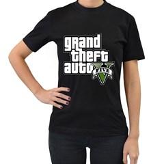 GTA V Womens' Two Sided T-shirt (Black)