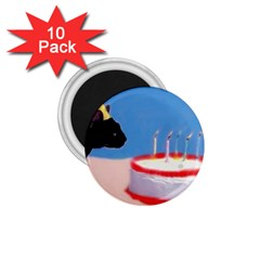 Birthday Kitty! 1.75  Button Magnet (10 pack)
