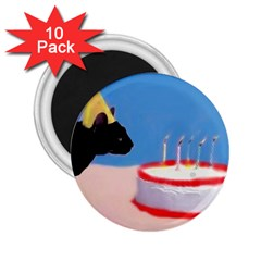 Birthday Kitty! 2.25  Button Magnet (10 pack)