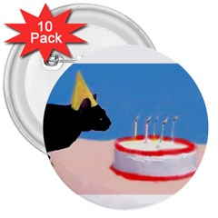 Birthday Kitty! 3  Button (10 Pack)