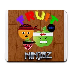 Fruit Ninjaz Large Mouse Pad (Rectangle)