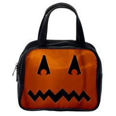 Pumpkin Classic Handbag (one Side)