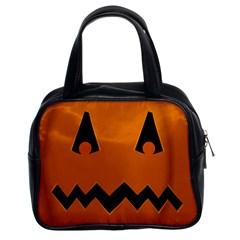 Pumpkin Classic Handbag (Two Sides)