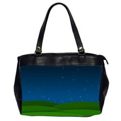 Rolling Hills Oversize Office Handbag (Two Sides)