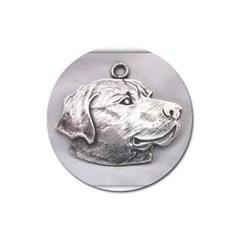 Labrador Magnet 3  (Round)