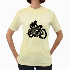 Full Speed Ahead!  Womens  T Shirt (yellow)