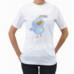 tweety bird Womens  T-shirt (White)