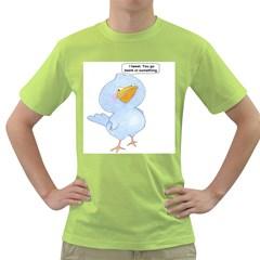 tweety bird Mens  T-shirt (Green)