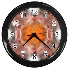 Seamless Background Fractal Wall Clock (black)