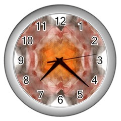 Seamless Background Fractal Wall Clock (Silver)