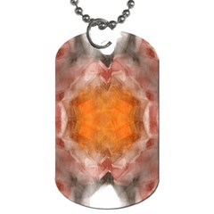 Seamless Background Fractal Dog Tag (two Sided)