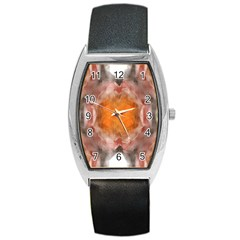 Seamless Background Fractal Tonneau Leather Watch
