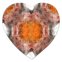 Seamless Background Fractal Jigsaw Puzzle (heart)