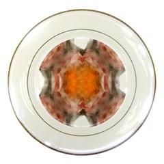 Seamless Background Fractal Porcelain Display Plate
