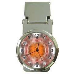 Seamless Background Fractal Money Clip With Watch
