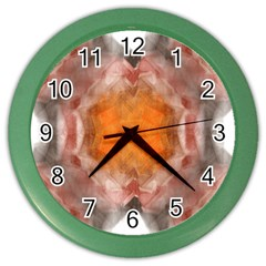 Seamless Background Fractal Wall Clock (color)
