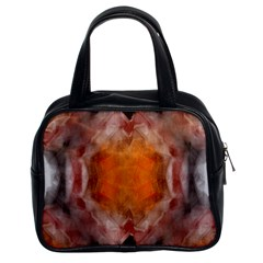 Seamless Background Fractal Classic Handbag (two Sides)