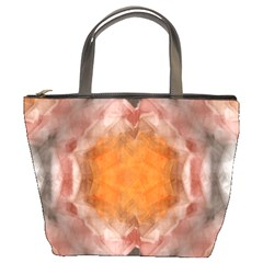 Seamless Background Fractal Bucket Bag