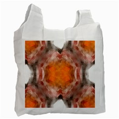 Seamless Background Fractal Recycle Bag (Two Sides)