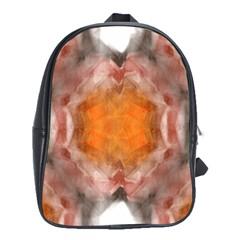 Seamless Background Fractal School Bag (Large)