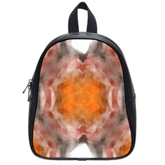Seamless Background Fractal School Bag (Small)