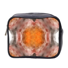 Seamless Background Fractal Mini Travel Toiletry Bag (Two Sides)