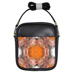 Seamless Background Fractal Girl s Sling Bag