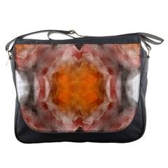 Seamless Background Fractal Messenger Bag