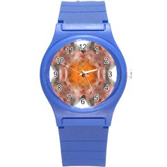 Seamless Background Fractal Plastic Sport Watch (small)
