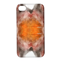 Seamless Background Fractal Apple iPhone 4/4S Hardshell Case with Stand