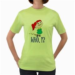 Oh boy! Womens  T-shirt (Green)