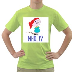 Oh boy! Mens  T-shirt (Green)