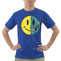 Smiley Two Face Mens' T-shirt (Colored)