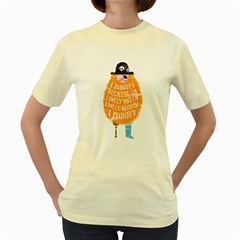 Plunder  Womens  T-shirt (Yellow)