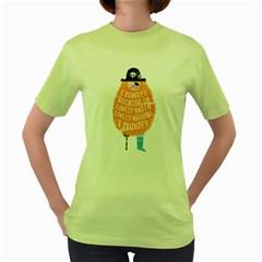 Plunder Womens  T Shirt (green)