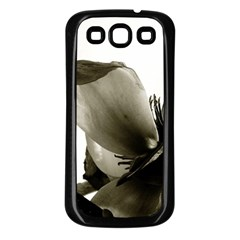 Magnolia Samsung Galaxy S3 Back Case (Black)