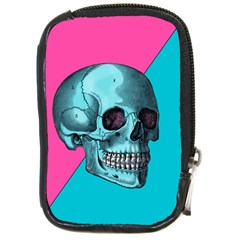 Funky Skull Compact Camera Leather Case