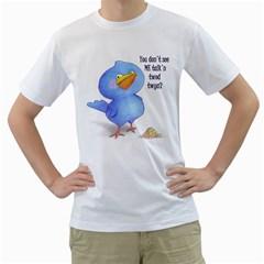 angry bird Mens  T-shirt (White)