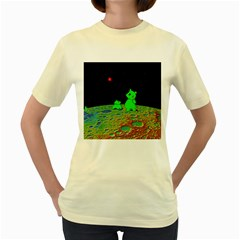 From Mars with woof  Womens  T-shirt (Yellow)