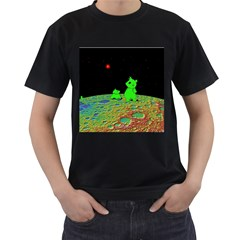 From Mars With Woof Mens' T Shirt (black)